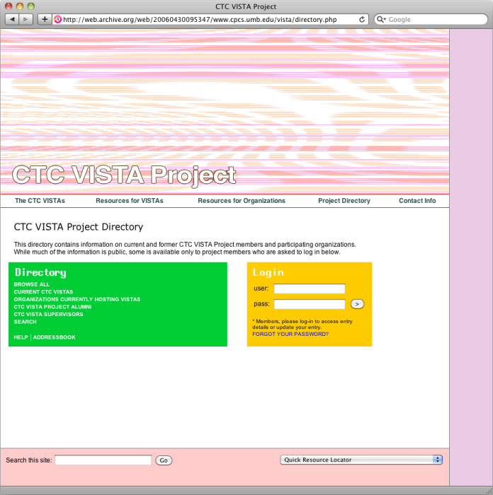 ctc-vista-project-directory-login