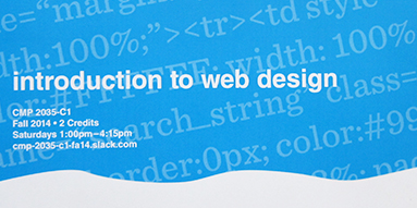 Introduction to Web Design (CMP 2035)