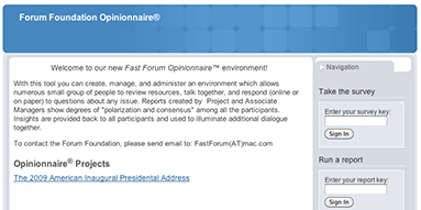 Forum Foundation Opinionnaire